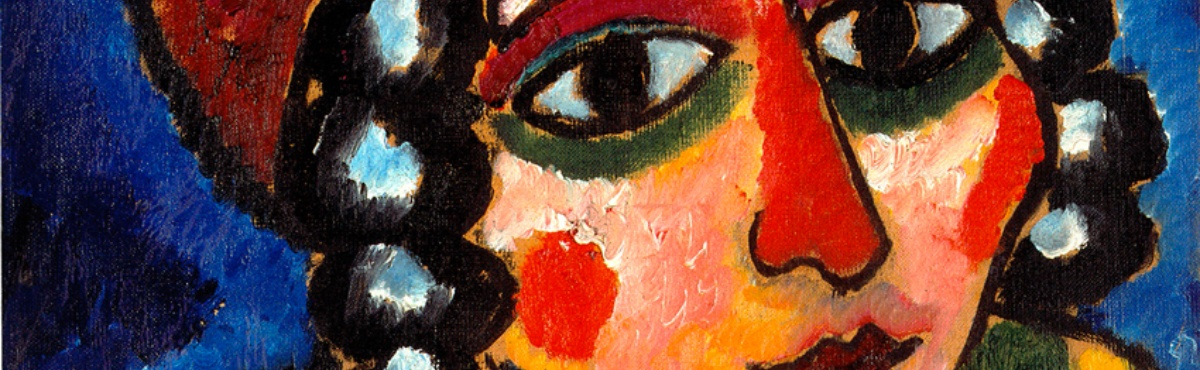 Alexej von  Jawlensky, Study of a Girl's Head with Red Turban and Yellow Clasp (Barbarian Princess)., um 1912,  Oil on hardboard -  Courtesy of Osthaus Museum Hagen & Institut für Kulturaustausch, Tübingen  -  Foto: Achim Kukulies, Düsseldorf